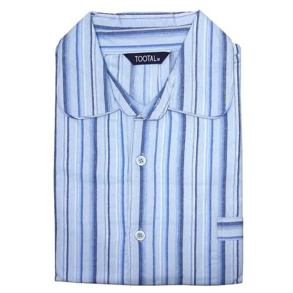 Blue Striped Brushed Cotton Nightshirt from Tootal
