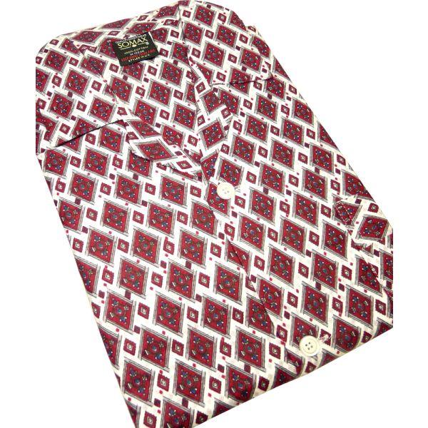 Wine Diamonds Brushed Cotton Elastic Waist Pyjamas from Somax