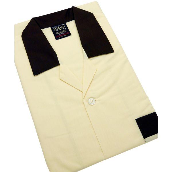 Beige Easycare Men's Tie Waist Pyjamas.
