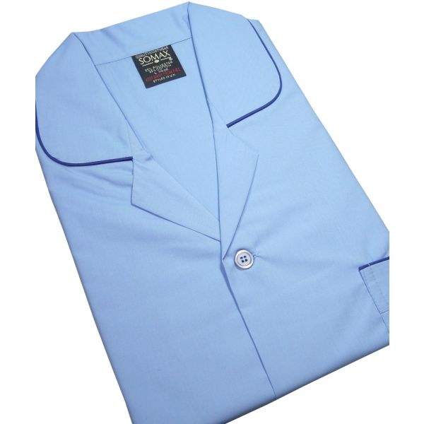 Blue Easycare Tie Waist Pyjamas from Somax