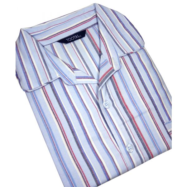 Blue Stripe Brushed Cotton Twill Nightshirt from Tootal
