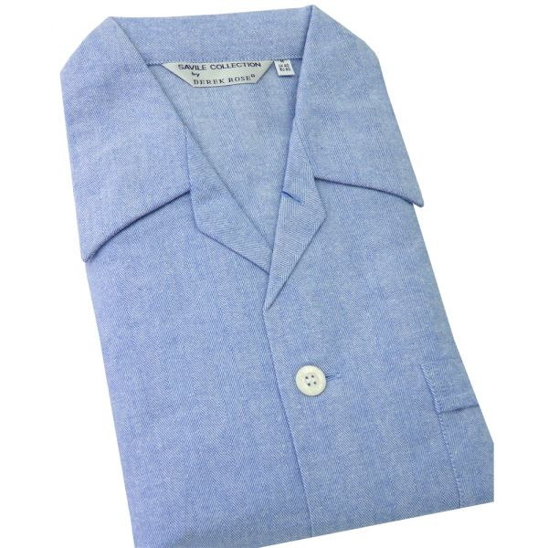 Blue Tie Waist Cotton Pyjamas from Derek Rose