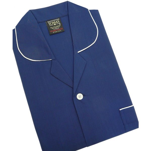 Navy Easycare Tie Waist Pyjamas from Somax