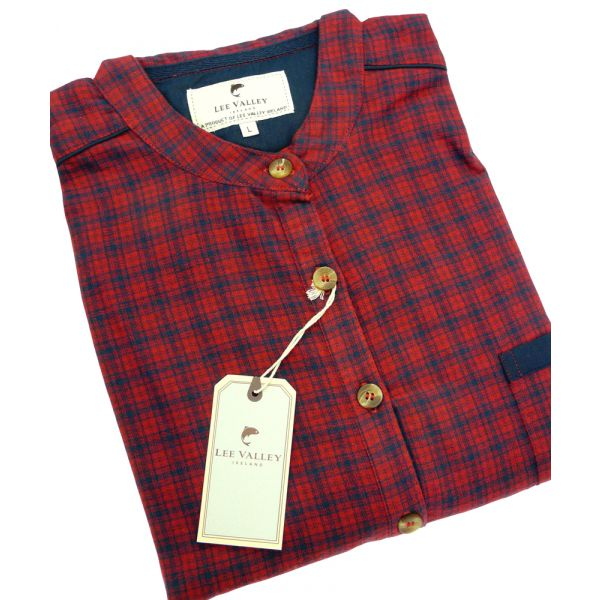 Red Check Irish Country Flannel Nightshirt from Lee Valley