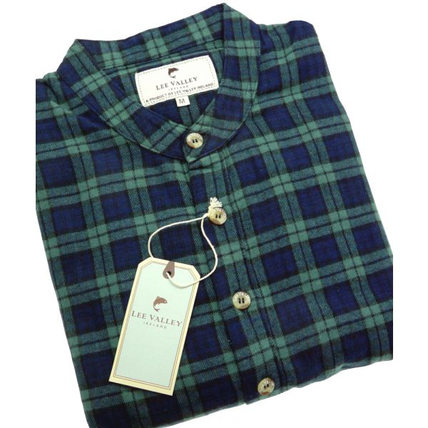 Navy and Green Check Lee Valley Ireland Flannel Nightshirt - LV6