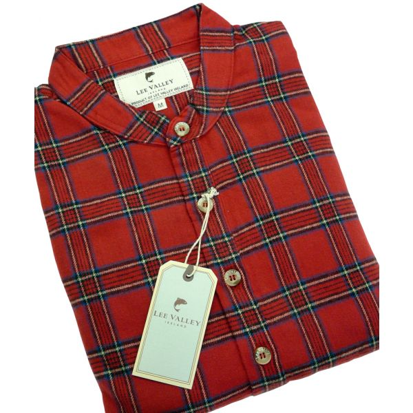 Red Tartan Lee Valley Ireland Flannel Nightshirt - LV27