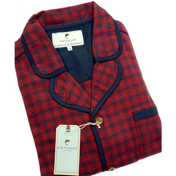Red Check Irish Country Flannel Pyjamas
