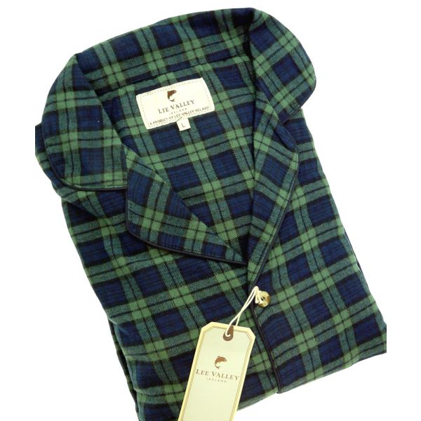 Navy and Green Check Flannel Pyjamas from Lee Valley Ireland