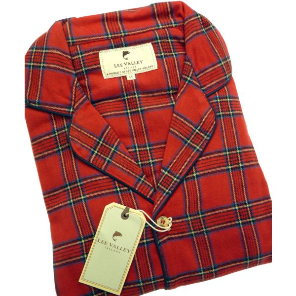 Red Tartan Flannel Pyjamas from Lee Valley Ireland