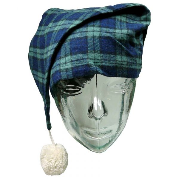 Navy and Green Check Lee Valley Flannel Nightcap