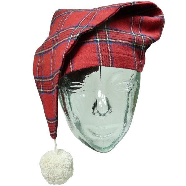 Red Tartan Lee Valley Flannel Nightcap