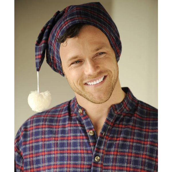 Navy Tartan Lee Valley Flannel Nightcap