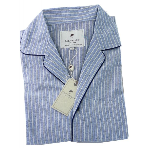 Blue and Cream Brushed Cotton Blarney Stone Pyjamas