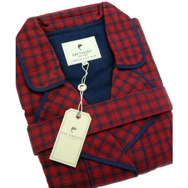 Red Check Irish Country Flannel Nightrobe