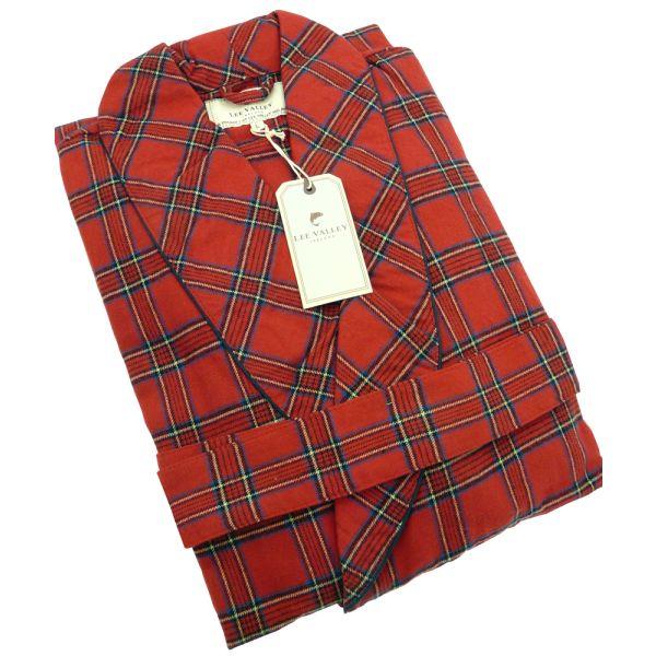 Red Tartan Lee Valley Flannel Nightrobe