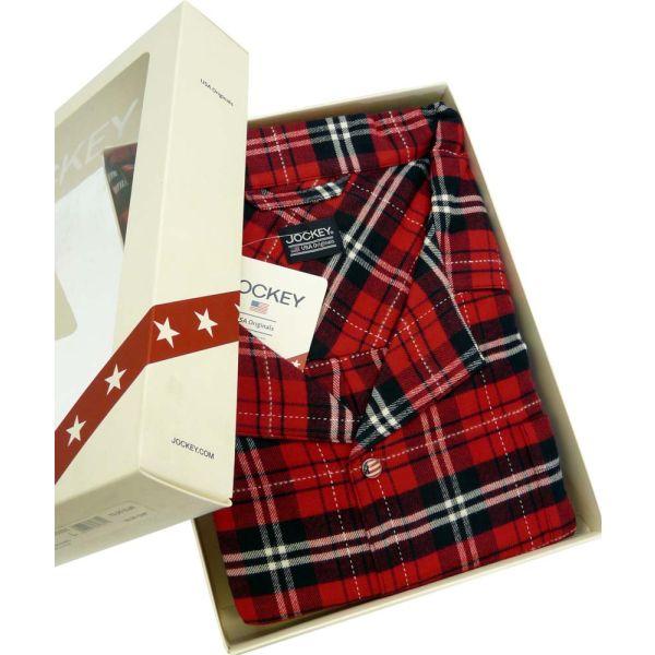 Red Check Brushed Twill Pyjamas from Jockey