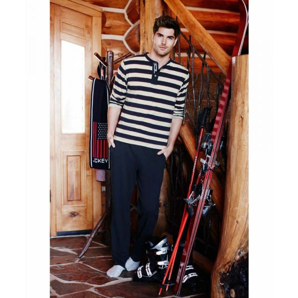 Navy Stripe Jersey Pyjamas from Jockey