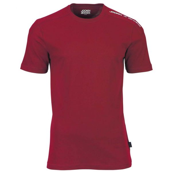 Red Cotton Short Sleeve T-Shirt from Jockey