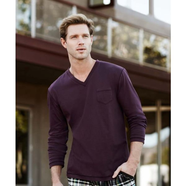 Perfect Plum Long Sleeve Cotton Top from Jockey