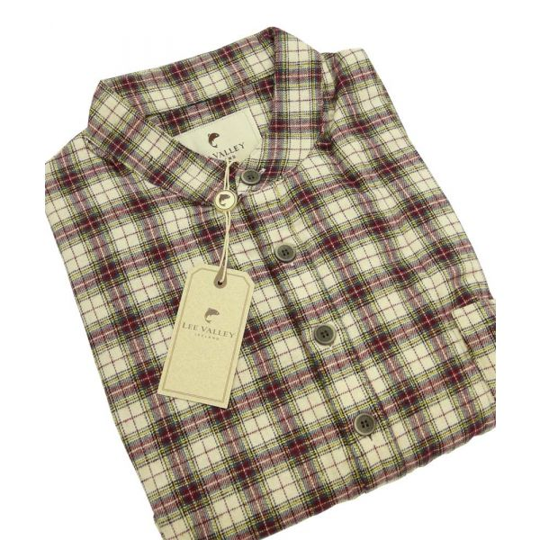 Maroon Tartan Check Flannel Nightshirt from Lee Valley - LV7