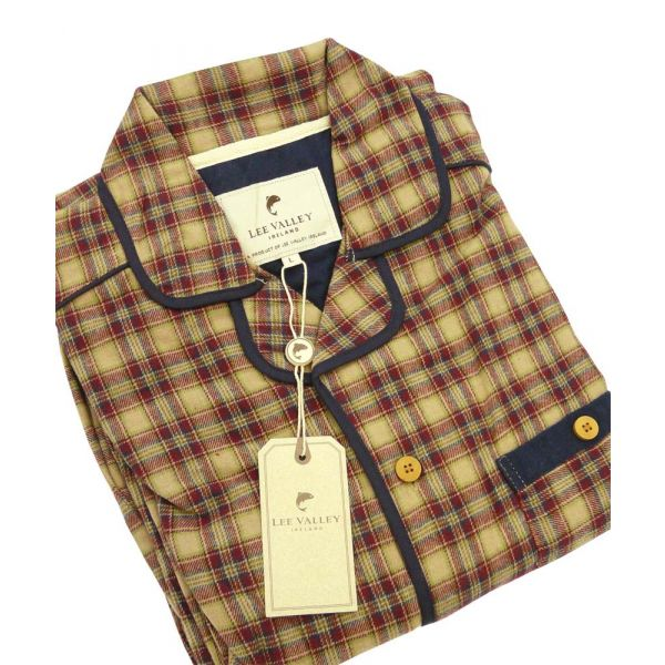 Claret Check Country Flannel Pyjamas from Lee Valley