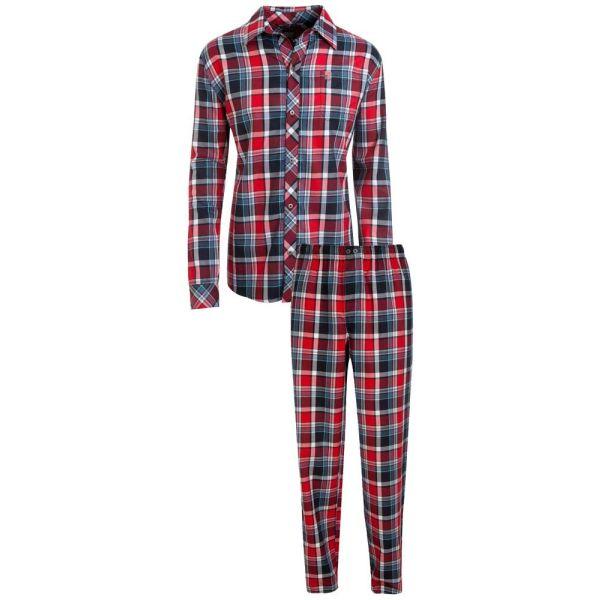 Navy and Red Check Woven Pyjamas from Jockey