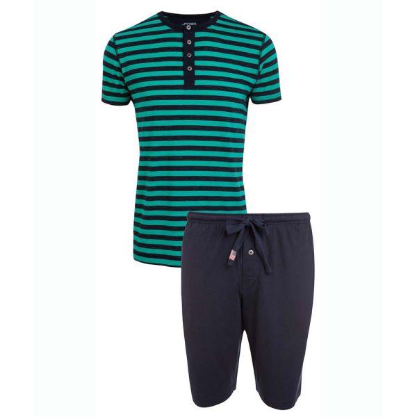 Green Stripe Shortie Pyjamas from Jockey