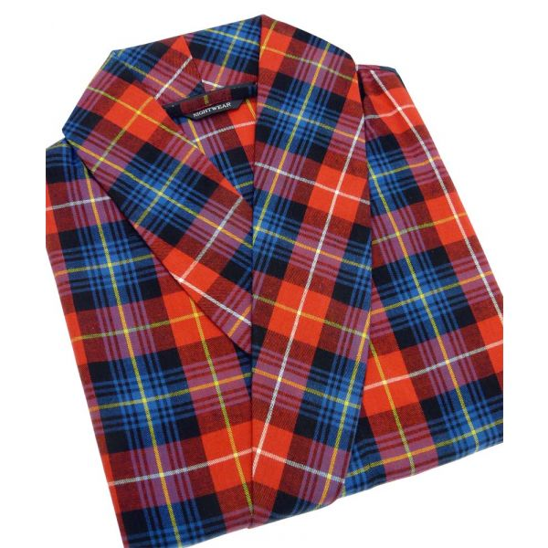 Red and Blue Check Cotton Gown from Lloyd Attree and Smith