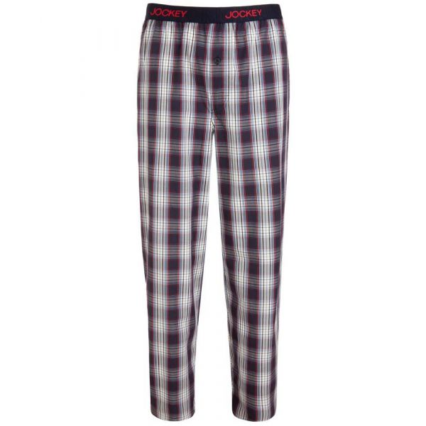 Cotton Loung Pants in Stonewash Check from Jockey