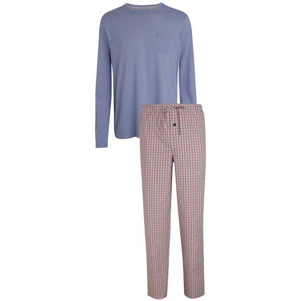 Grey Jersey Top with Check Cotton Pant Pyjamas from Jockey