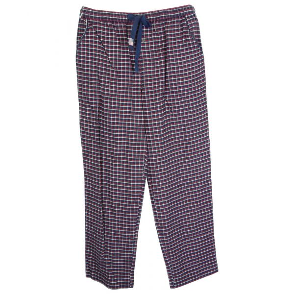 Navy Check Cotton Flannel Lounge Pants from Jockey