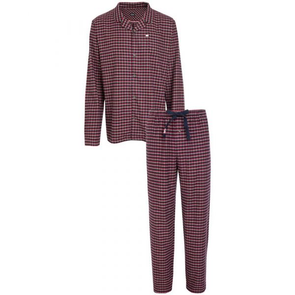 Navy Check Cotton Flannel Pyjamas from Jockey