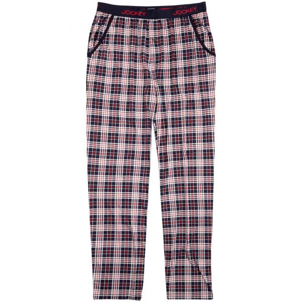 Navy Check Jersey Knit Lounge Pants from Jockey