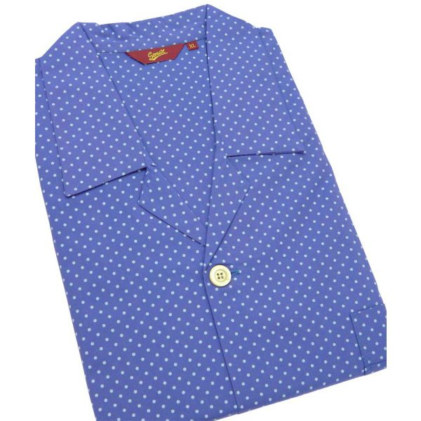 Blue Spots. Cotton Tie Waist Pyjamas from Somax
