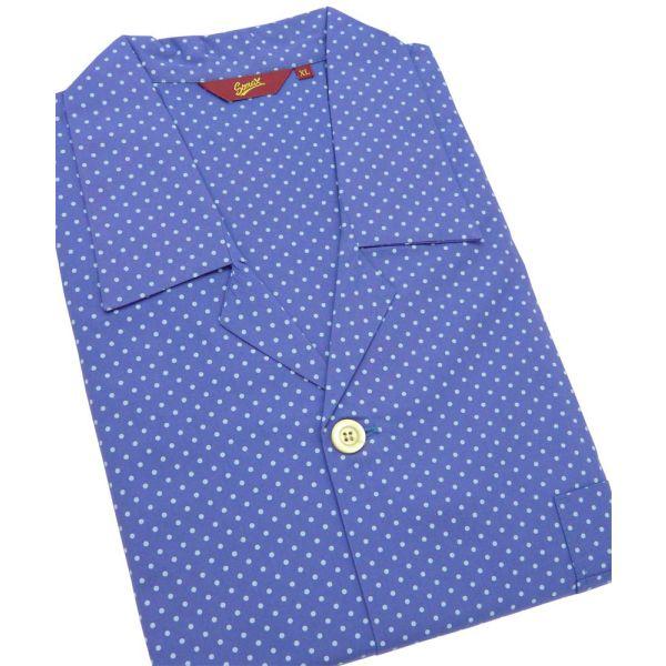 Blue Spots. Cotton Tie Waist Pyjamas from Somax