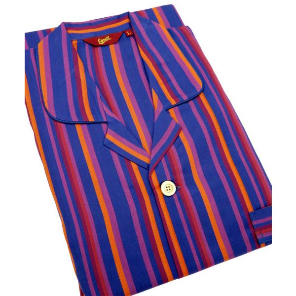 Purple Stripes. Cotton Elastic Waist Pyjamas from Somax