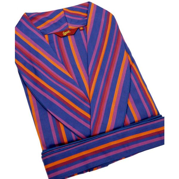 Purple Stripes. Cotton Gown from Somax