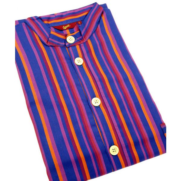 Purple Stripes. Cotton Over the Head Nightshirt from Somax