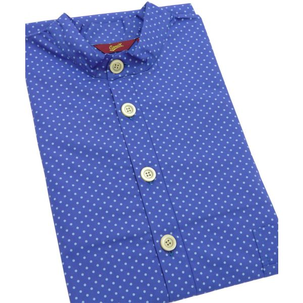 Blue Spots. Cotton Over the Head Nightshirt from Somax