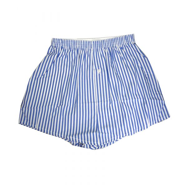 Royal Blue and White 100% Cotton Boxer Shorts from Somax