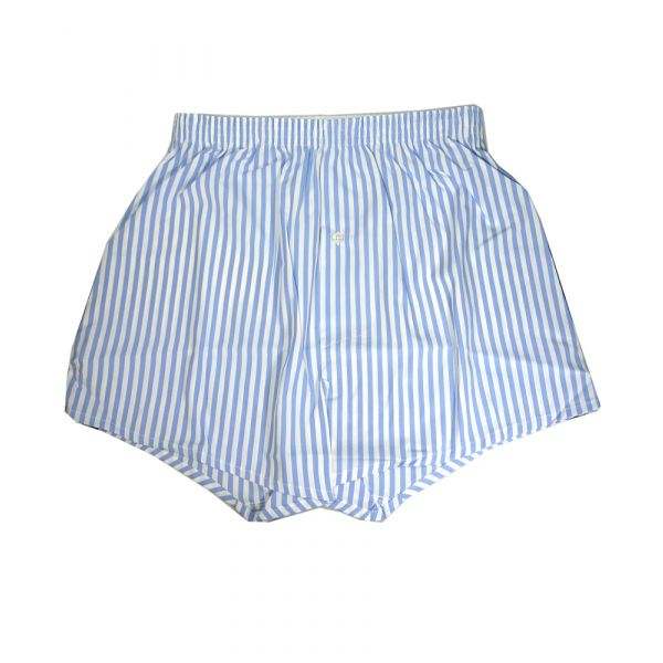Sky Blue and White 100% Cotton Boxer Shorts from Somax
