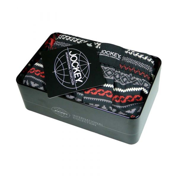 Festive Cotton Boxer Shorts in a Tin from Jockey