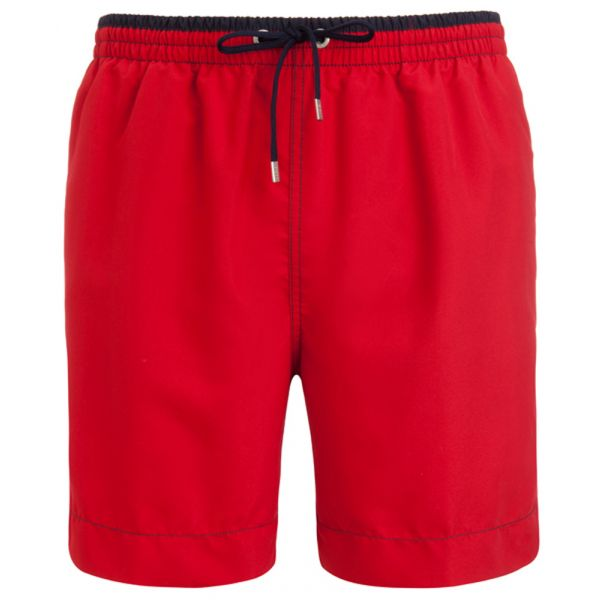Jockey Long Red Swimming Shorts