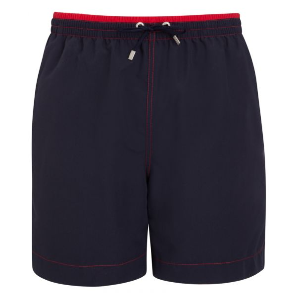 Long Navy Jockey Swimming Shorts