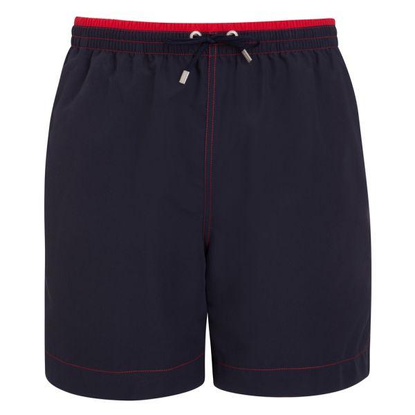 Long Navy Jockey Swimming Shorts