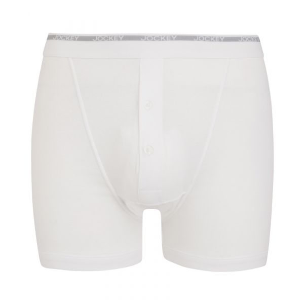 Twin Pack of White Boxer Trunks from Jockey