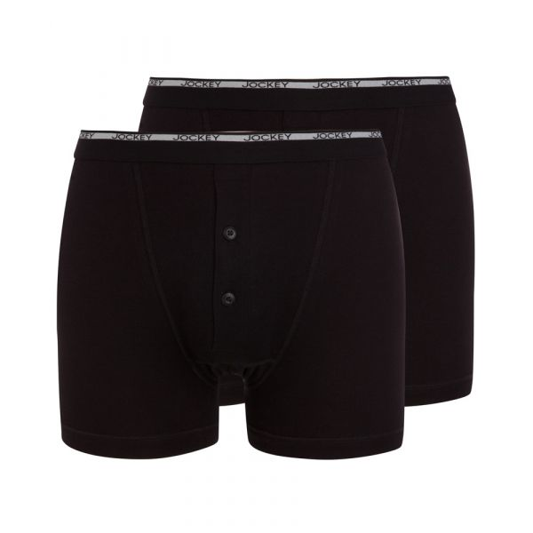 Twin Pack of Black Boxer Trunks from Jockey