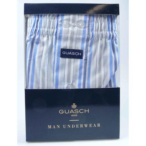 Guasch - Mens Cotton Boxers - Stripe or Check Design