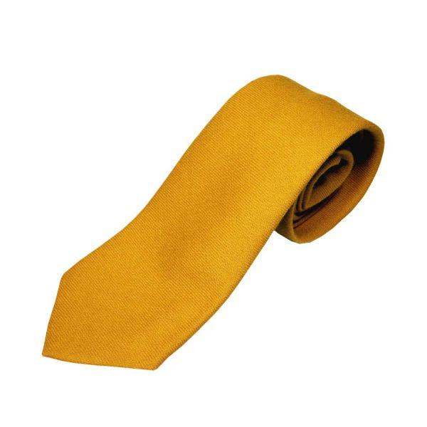 Mustard Wool Tie from Atkinsons