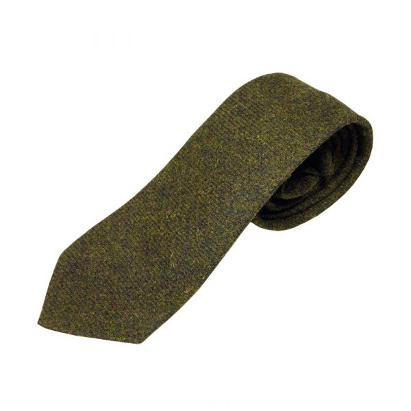 Dark Forest Green Wool Tie from Atkinsons
